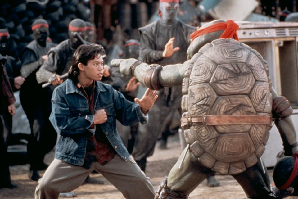 Ernie Reyes Jr. stars as Keno in 'Teenage Mutant Ninja Turtles II: The Secret of the Ooze' (Photo: New Line Cinema/courtesy Everett Collection)