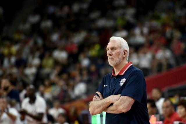 Team USA Coach Gregg Popovich had little to celebrate on the sidelines of the game against France, but said he was proud of his squad (AFP Photo/Ye Aung Thu )