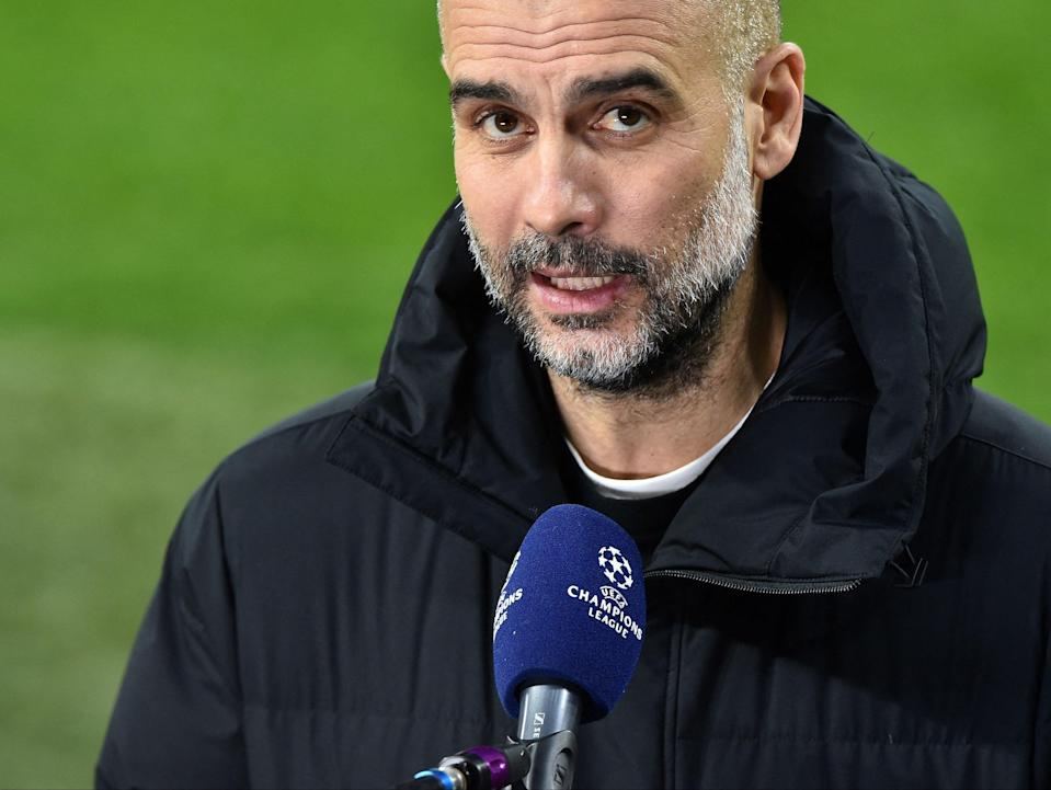 Manchester City manager Pep Guardiola (AFP via Getty Images)