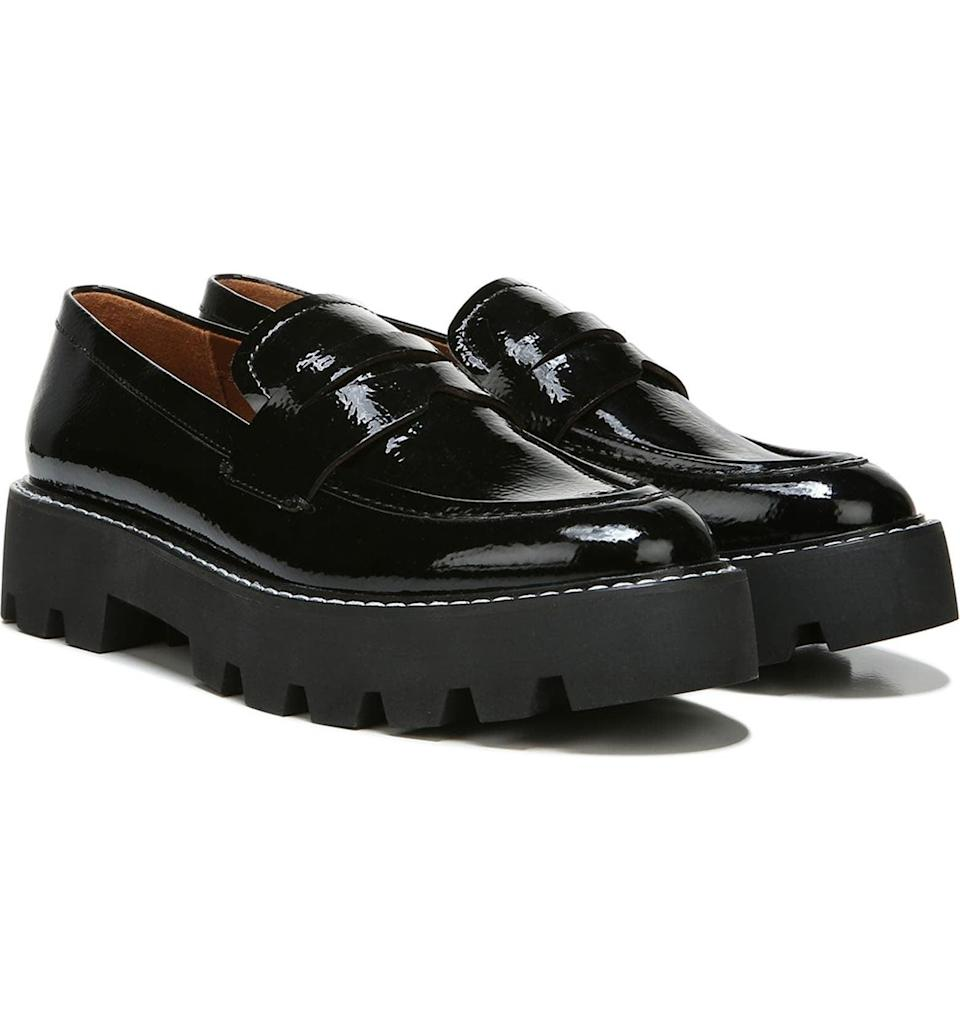 <p>These classic yet contemporary <span>Franco Sarto Bazel Lug Sole Loafers</span> ($50, originally $89) will be a favorite among all your shoes. The lustrous fabric makes them eye-catching and chic.</p>