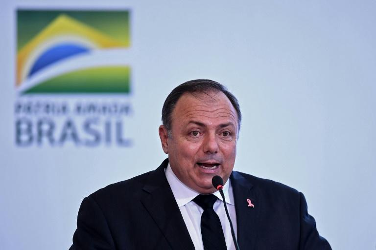 Brazil's health minister Eduardo Pazuello, pictured at an event in Brasilia in October 2020