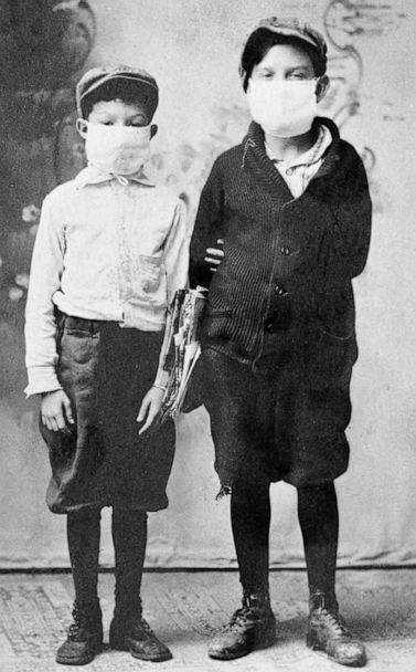 PHOTO: Children ready for school during the 1918 flu epidemic in Florida. (State Library and Archives of Florida)
