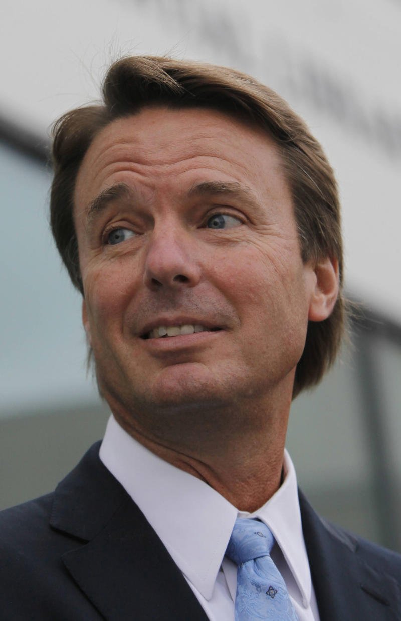 "FILE - In this Aug. 28, 2009 file photo, former Sen. John Edwards arrives for a memorial service for Sen. Edward Kennedy at the John F. Kennedy Library and Museum in Boston. Relatives of wealthy donor Rachel ""Bunny"" Mellonwho gave hundreds of thousands of dollars to former presidential candidate Edwards were subpoenaed to appear Friday, Dec. 3, 2010 before a federal grand jury investigating his campaign finances, in Raleigh N.C.. Alexander Forger, the New York-based attorney for Rachel ""Bunny"" Mellon, told The Associated Press that Mellon's son, two grandsons and one of the grandson's wives were at the federal courthouse in Raleigh.  (AP Photo/Michael Dwyer, File)"