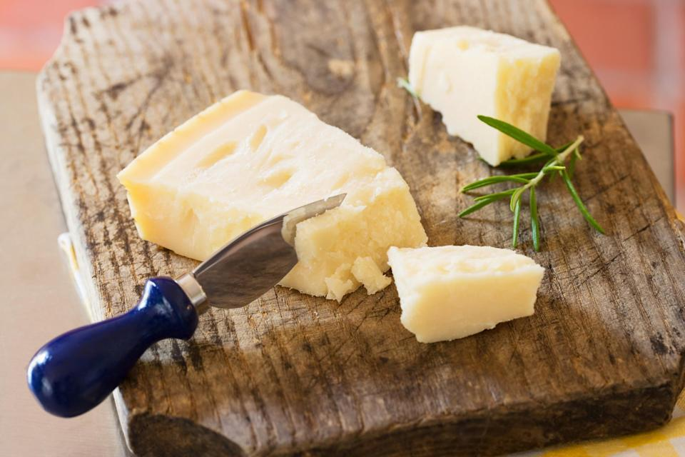 """<p>Hard cheese like Parmesan or pecorino Romano last a lot longer than soft cheeses like mozzarella. You can tell if hard cheeses have gone bad if there is deep mold throughout the block. According to the USDA, if hard cheese has only spots of surface mold, you can trim off the mold (at least an inch around and below the mold) and wrap the rest in fresh cling wrap. Here's our reminder to you to use that forgotten block of cheese <a href=""""https://www.thedailymeal.com/cook/what-is-bolognese?referrer=yahoo&category=beauty_food&include_utm=1&utm_medium=referral&utm_source=yahoo&utm_campaign=feed"""" rel=""""nofollow noopener"""" target=""""_blank"""" data-ylk=""""slk:on top of bolgonese"""" class=""""link rapid-noclick-resp"""">on top of bolgonese</a> or in your <a href=""""https://www.thedailymeal.com/cook/25-amazing-mac-and-cheese-recipes-0?referrer=yahoo&category=beauty_food&include_utm=1&utm_medium=referral&utm_source=yahoo&utm_campaign=feed"""" rel=""""nofollow noopener"""" target=""""_blank"""" data-ylk=""""slk:mac and cheese"""" class=""""link rapid-noclick-resp"""">mac and cheese</a> for dinner tonight before it goes bad.</p>"""