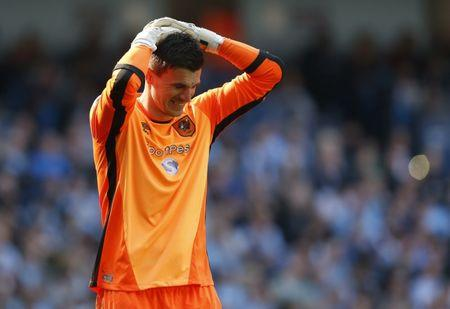 Hull City's Eldin Jakupovic looks dejected