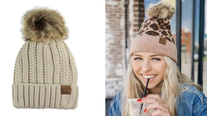 A warm hat like this one is a must in the winter.