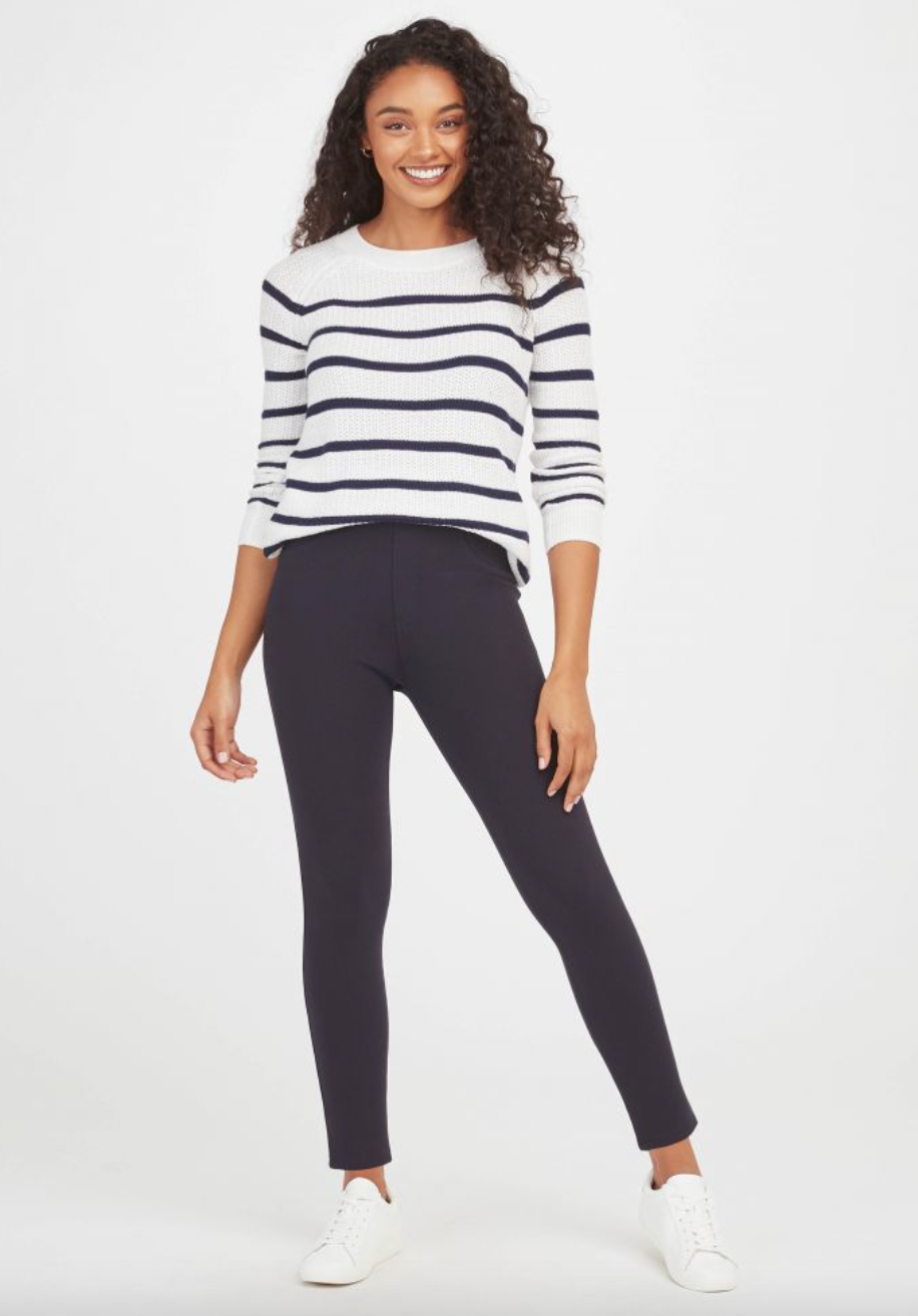 Spanx 'The Perfect Pant' Ankle 4-Pocket in Navy (Photo via Spanx)