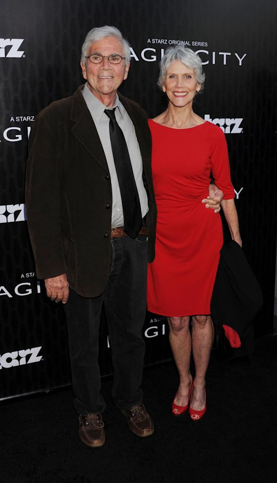 "Alex Rocco and his wife attend the Starz '<a target=""_blank"" href=""http://tv.yahoo.com/magic-city/show/46996"">Magic City</a>' Los Angeles Series Premiere at Directors Guild Of America on March 20, 2012 in Los Angeles, California."