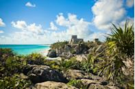 """<p>White sand beaches and jewel-toned waters are calling our names, and we must go! Whether you prefer Cancún, Tulum, Playa del Carmen, or Riviera Maya, you can't go wrong with a Yucatán getaway to kick off 2021. This year, we're eyeing <a href=""""https://rivieramaya.grandvelas.com/"""" rel=""""nofollow noopener"""" target=""""_blank"""" data-ylk=""""slk:Grand Velas Riviera Maya"""" class=""""link rapid-noclick-resp"""">Grand Velas Riviera Maya</a>'s private VanDutch yachting experiences to close out 2020 the best way we know how. Socially distance in style with a visit to an underwater art museum, a multicourse meal from one of Mexico's best chefs, and a fireworks show after sunset. This offering is available through 2021 and accommodates up to six guests. </p>"""