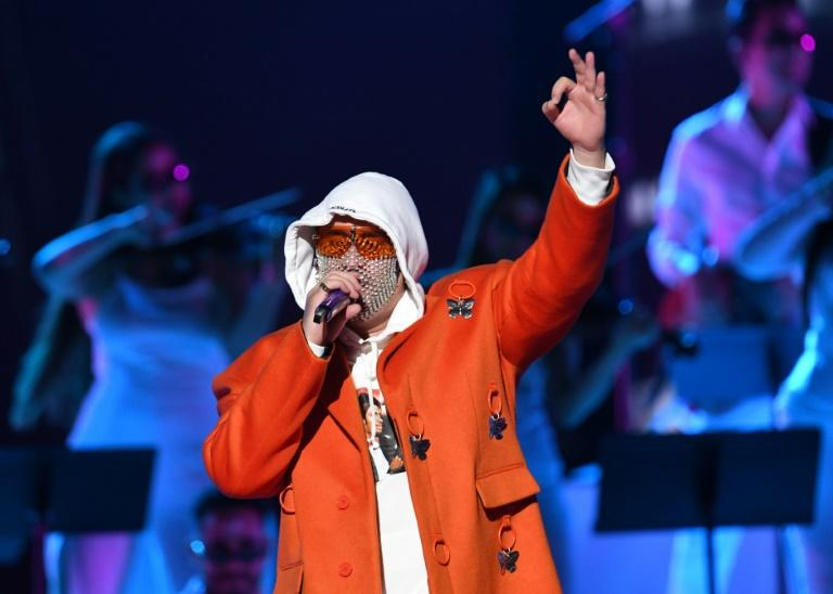 Puerto Rico's Bad Bunny, seen here performing in Las Vegas last year, dominated the first ever Spotify Music awards in Mexico