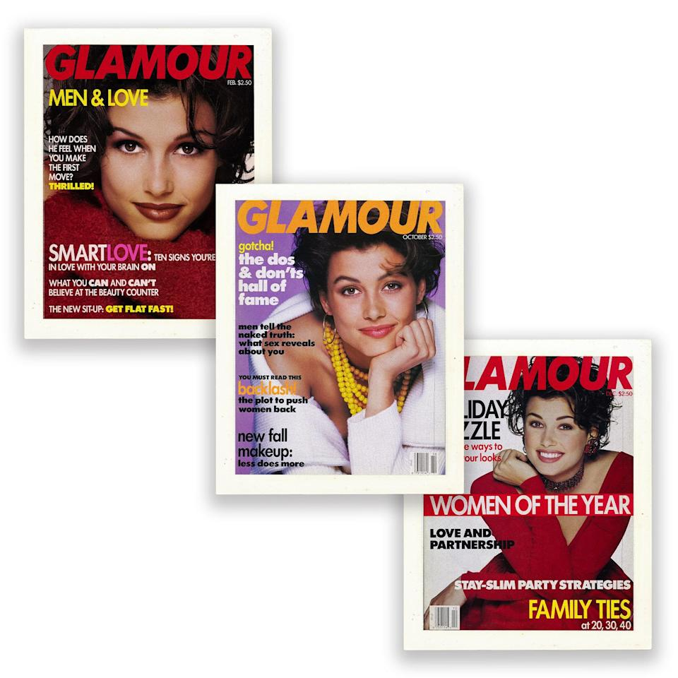 Bridget Moynahan on the various covers of Glamour