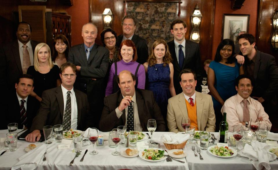 The cast of 'The Office,' which is currently streaming on Peacock (Photo: Chris Haston / © NBC / Courtesy Everett Collection)