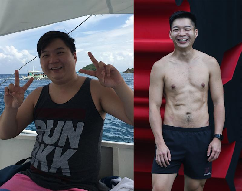 After shedding weight, Rayson Yong signed up for his gym's motivational award ceremony, in hope that his weight-loss journey can inspire others to not be afraid to take on the challenges in life. (PHOTO: Cheryl Tay)