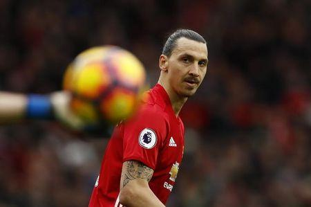 Britain Soccer Football - Manchester United v AFC Bournemouth - Premier League - Old Trafford - 4/3/17 Manchester United's Zlatan Ibrahimovic  Action Images via Reuters / Jason Cairnduff