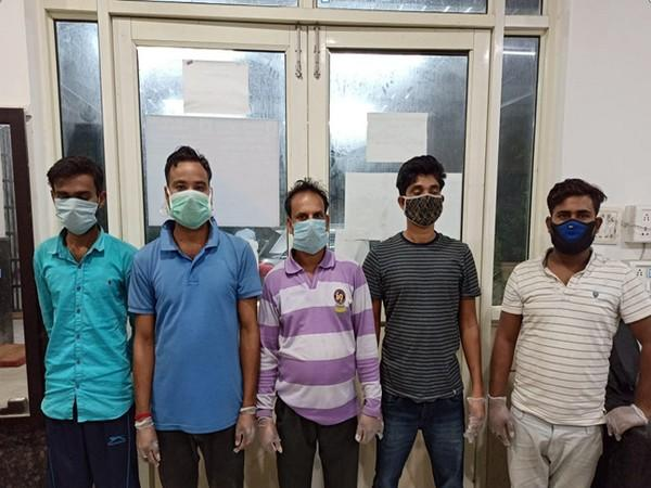 Five persons were arrested by the Delhi Police in the bust of the International drug cartel including Nityanand (centre)