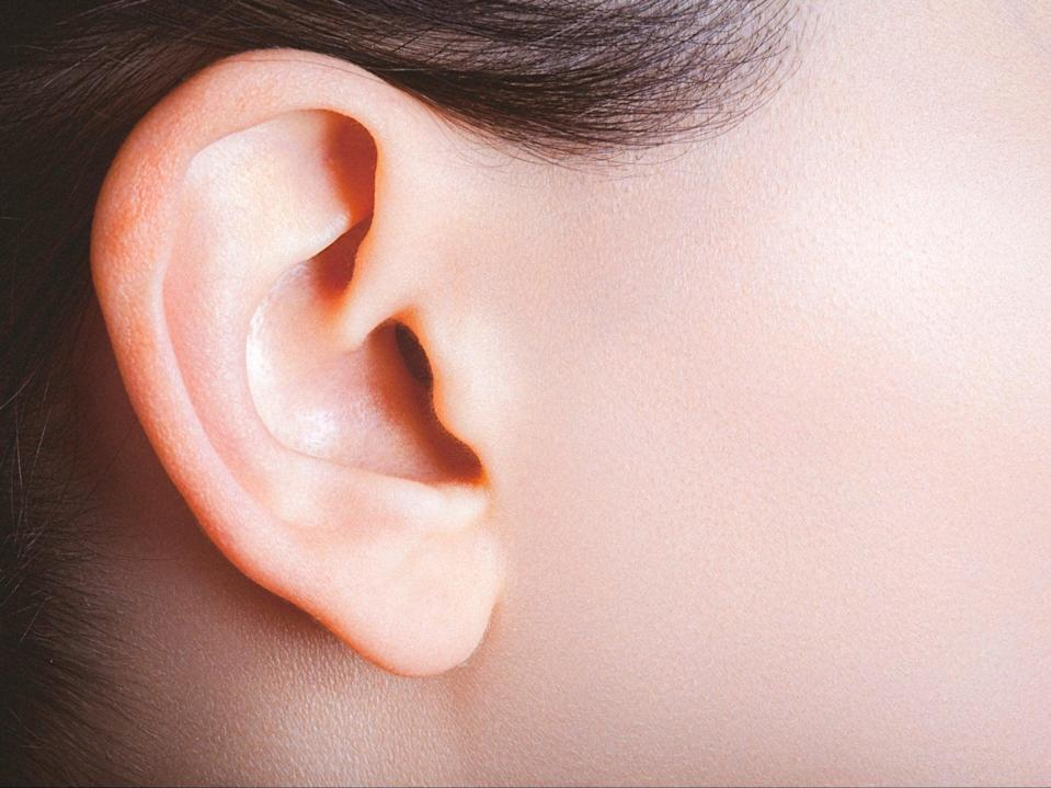 Female ear and part of a cheek viewed from the side (Getty Images/iStockphoto)