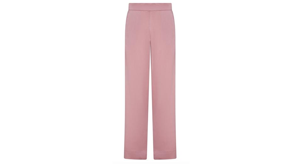 LONDON DUSTY ROSE SILK PYJAMA BOTTOM