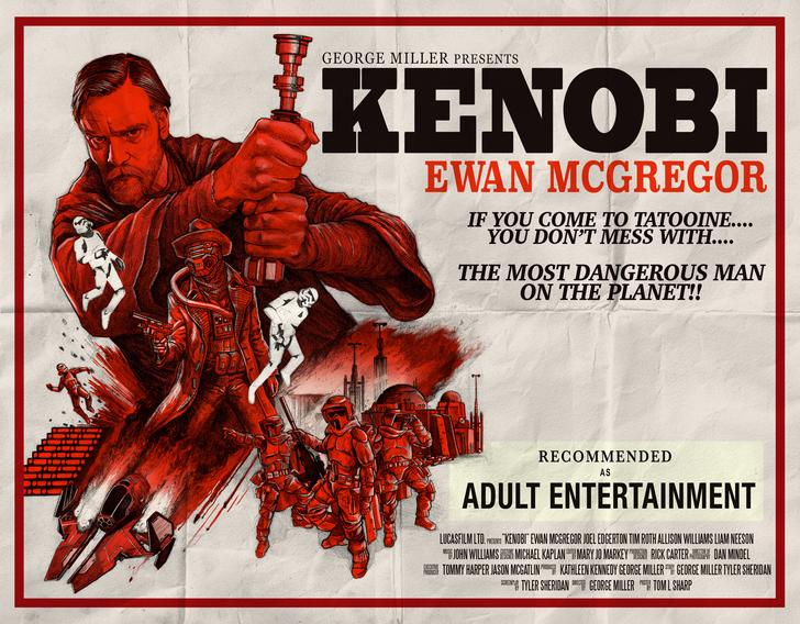 """""""I decided to draw and design my own poster for an Obi-Wan Kenobi standalone film — in the style of a Spaghetti Western,"""" writes the Imgur user who created this image. (Photo: <a href=""""http://imgur.com/Oxn3Jhv"""" rel=""""nofollow noopener"""" target=""""_blank"""" data-ylk=""""slk:Imgur"""" class=""""link rapid-noclick-resp"""">Imgur</a>)"""
