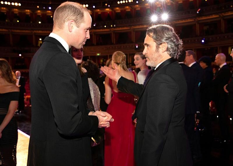 Prince William and Joaquin Phoenix at the BAFTA Awards | Jeff Gilbert/WPA Pool/Getty