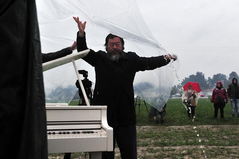 Ai Weiwei has been a noted supporter of refugees in recent months and condemned European politicians' handling of the situation (AFP Photo/Sakis Mitrolidis)