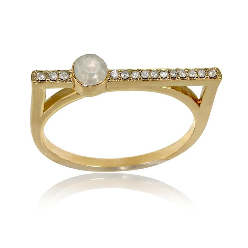 Get the Ashley Nell Tipton plus size bar ring, available in sizes 10-14, for $14.99