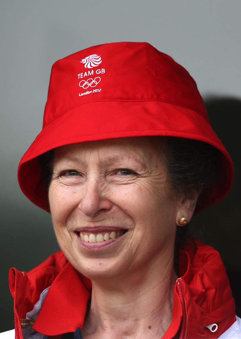 Princess Anne on the opening day of the 2010 Olympic Games in London, July 2012.