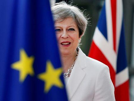 FILE PHOTO: British Prime Minister Theresa May arrives at the EU summit in Brussels