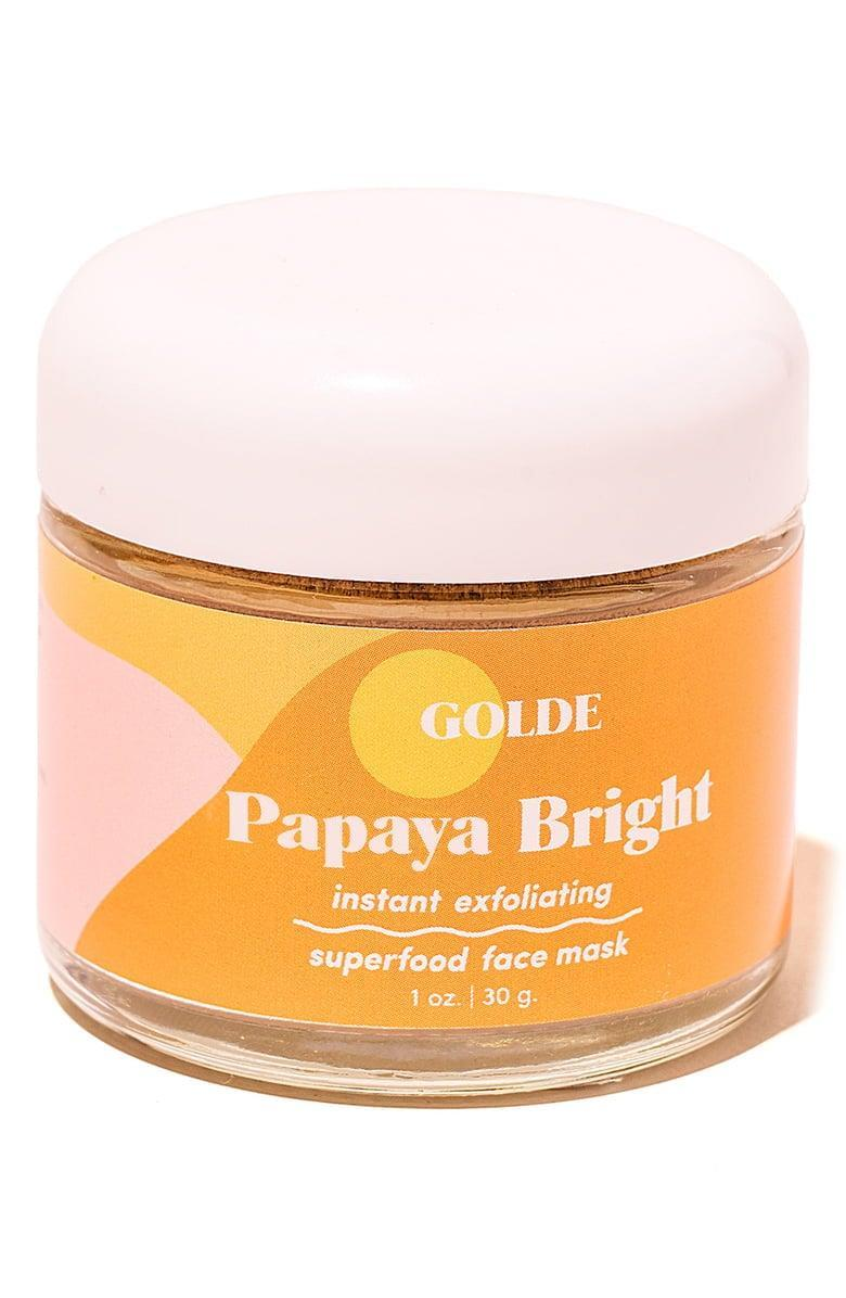 <p>Beauty doesn't get much cleaner than the <span>Golde Papaya Bright Instant Exfoliating Superfood Face Mask</span> ($34). It's a powder-to-gel mask that's made with 100 percent edible superfood ingredients.</p>