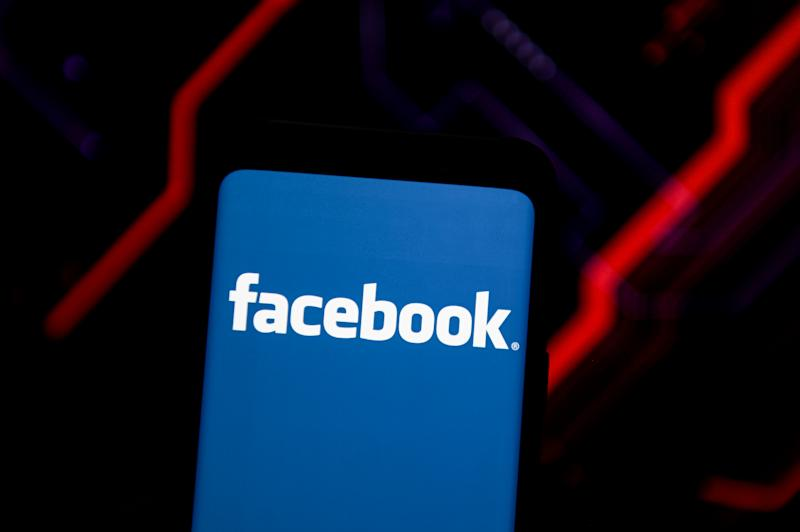 POLAND - 2020/06/15: In this photo illustration a Facebook logo seen displayed on a smartphone. (Photo Illustration by Mateusz Slodkowski/SOPA Images/LightRocket via Getty Images)
