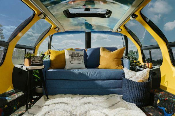 PHOTO: A look inside the Oscar Mayer Wienermobile which will be available to book on Airbnb beginning Wednesday July, 24. (Airbnb)