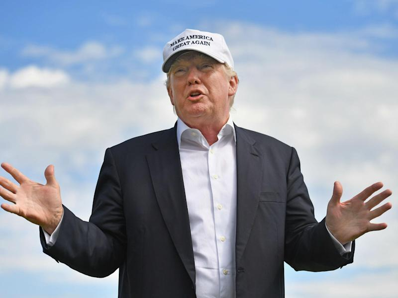 President is expected to visit one of his Scottish golf courses this month: Jeff J Mitchell/Getty Images