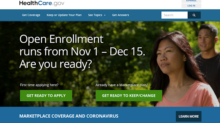 """<span class=""""caption"""">Open enrollment for health insurance in the healthcare.gov marketplaces begins Nov. 1. </span> <span class=""""attribution""""><a class=""""link rapid-noclick-resp"""" href=""""https://www.healthcare.gov"""" rel=""""nofollow noopener"""" target=""""_blank"""" data-ylk=""""slk:https://www.healthcare.gov"""">https://www.healthcare.gov</a>, <a class=""""link rapid-noclick-resp"""" href=""""http://creativecommons.org/licenses/by-sa/4.0/"""" rel=""""nofollow noopener"""" target=""""_blank"""" data-ylk=""""slk:CC BY-SA"""">CC BY-SA</a></span>"""