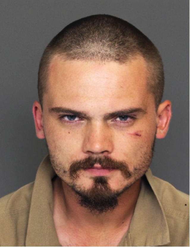 Police photo of Star Wars actor Jake Lloyd (Colleton County Sheriff's Office/AP)