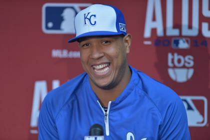 Royals catcher Salvador Perez has a jovial nature and a real talent with a camera phone. (USA TODAY)