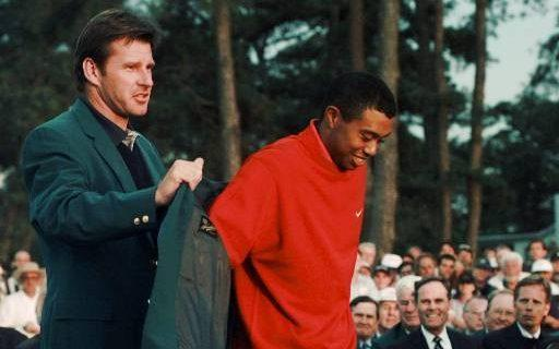 Tiger Woods Masters 1997 - Credit: AP