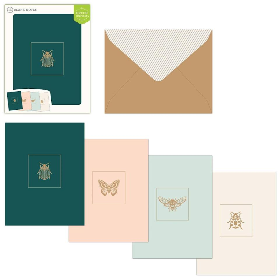 Green Inspired Bug Blank Note Cards