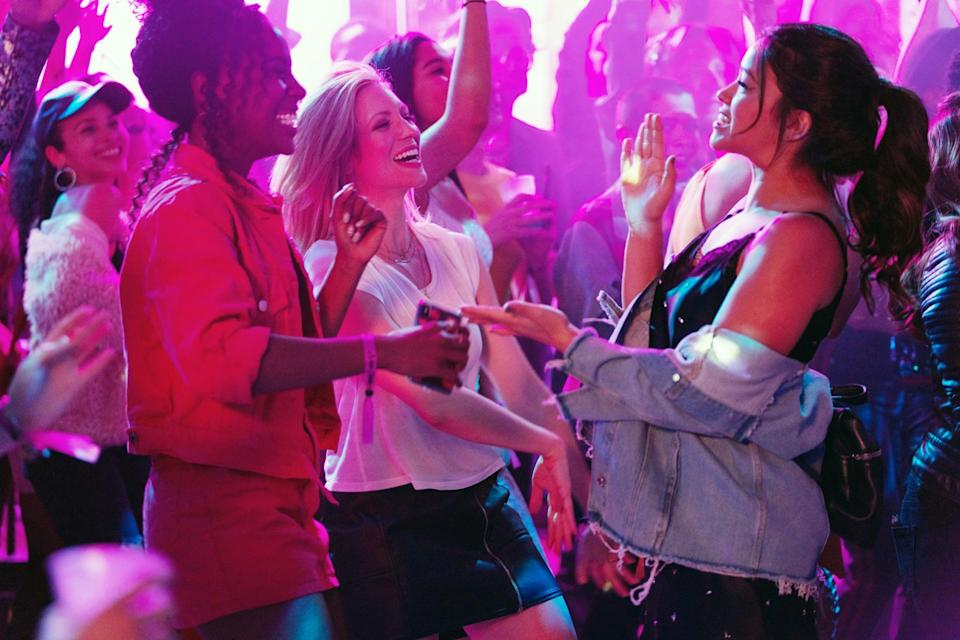 """<p>Starring <strong>Jane the Virgin</strong>'s Gina Rodriguez, <strong>Pitch Perfect</strong>'s <a class=""""link rapid-noclick-resp"""" href=""""https://www.popsugar.com/Brittany-Snow"""" rel=""""nofollow noopener"""" target=""""_blank"""" data-ylk=""""slk:Brittany Snow"""">Brittany Snow</a>, and <strong>She's Gotta Have It</strong>'s DeWanda Wise, this comedy tells the story of aspiring music journalist Jenny (played by Rodriguez), whose boyfriend of nine years unceremoniously dumps her as soon as she lands her dream job in San Francisco. However, her two BFFs, Blair and Erin (played by Snow and Wise, respectively), are there to help her get over her ex with one last crazy weekend in New York City before she moves across the country, and they seriously deliver. </p> <p><a href=""""http://www.netflix.com/title/80202920"""" class=""""link rapid-noclick-resp"""" rel=""""nofollow noopener"""" target=""""_blank"""" data-ylk=""""slk:Watch it now."""">Watch it now.</a><br></p>"""