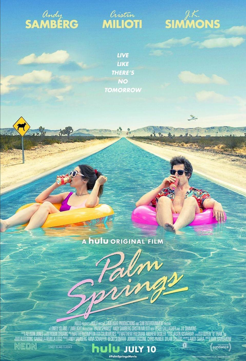 <p><strong>The twist was physics books and studying during a destination wedding? </strong></p><p>Hulu's buzziest original film release, <em>Palm Springs</em><em>,</em> at first seemed like a fresh take on a <em>Groundhog Day</em> concept: waking up every morning only to live through the same exact day again, and again, and again. There are sci-fi flourishes, thanks to the time-loop cave where Nyles (Andy Samberg) tries to stop Sarah (Cristin Milioti) from following him into. Of course, she doesn't listen and gets stuck in the loop with him. </p><p>To break the loop, Sarah gets a bunch of physics textbooks (she doesn't live in Palm Spring but is there for a wedding), studies every day, and suddenly understands exactly how to escape the time loop. Though her plan is successful, it was underwhelming and unrealistic that someone with no science background could just pore over textbooks to unlock the mysteries of traveling through time.</p>