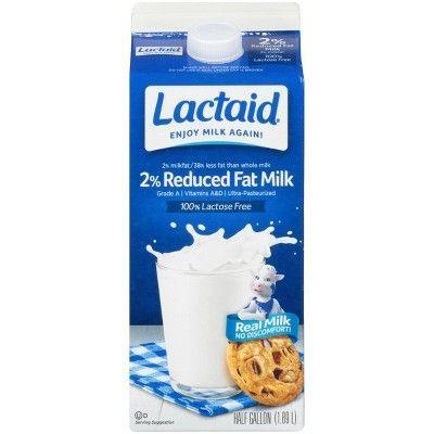 """<p><strong>Lactaid</strong></p><p>target.com</p><p><strong>$3.59</strong></p><p><a href=""""https://www.target.com/p/lactaid-milk-100-lactose-free-reduced-fat-0-5-gal/-/A-13292864"""" rel=""""nofollow noopener"""" target=""""_blank"""" data-ylk=""""slk:Shop Now"""" class=""""link rapid-noclick-resp"""">Shop Now</a></p><p>The classic brand in lactose-free milk, <a href=""""https://www.lactaid.com/"""" rel=""""nofollow noopener"""" target=""""_blank"""" data-ylk=""""slk:Lactaid"""" class=""""link rapid-noclick-resp"""">Lactaid </a>was developed back in the 1970s by a third-generation dairyman who realized that by adding lactase to the milk from his family farm, more people could enjoy it. The company now offers 9 kinds of milk, ice cream, cottage cheese, and even eggnog. Because the lactose has already been broken down into the simpler sugars, Lactaid has a slightly sweeter taste than regular milk. </p>"""