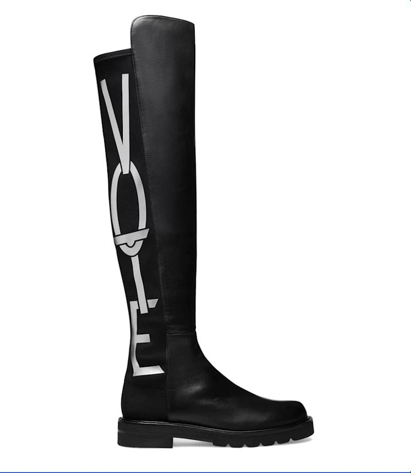 "<strong>Get the <a href=""https://www.stuartweitzman.com/products/5050-vote/black-nappa-leather/?ogmap=PLA