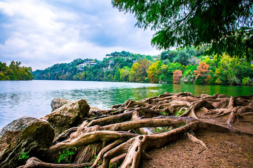 The scenery is incredible at Red Bud Isle in Austin. (Getty Images)