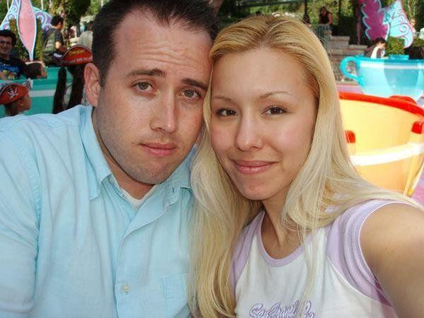 An undated photo of Travis Alexander and Jodi Arias that she posted to her MySpace page. According to the caption, the photo was taken at Disney Land.