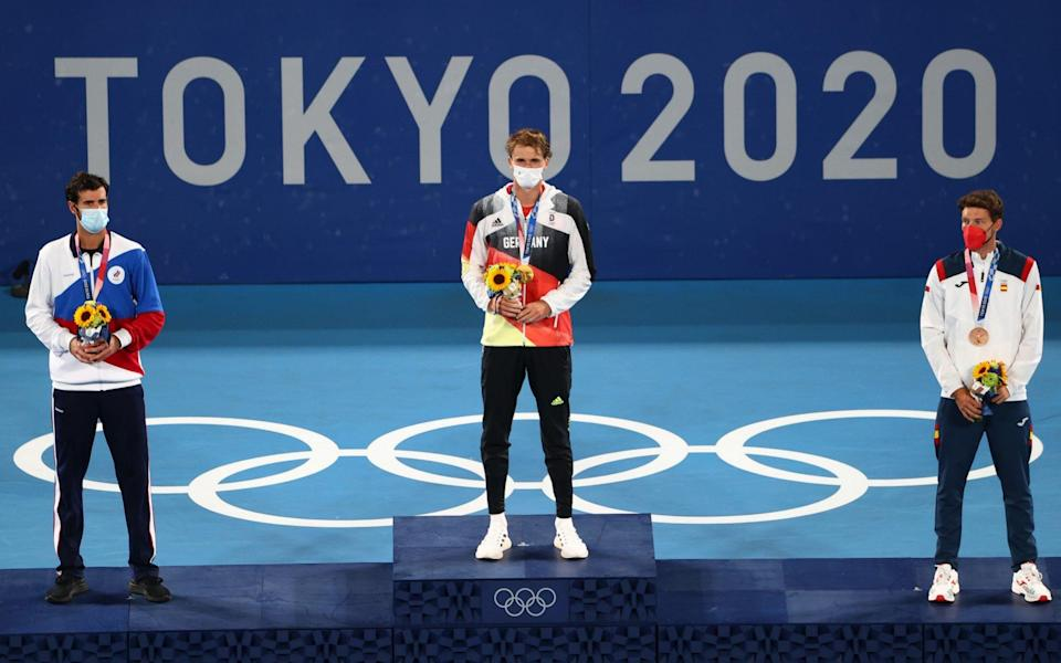 Alexander Zverev wins Olympic gold for Germany as he cruises to victory over Russian Karen Khachanov - REUTERS