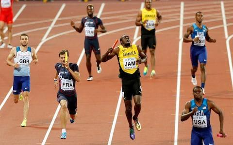 <span>Bolt pulled up when in third place in the 4x100m relay</span> <span>Credit: Reuters </span>