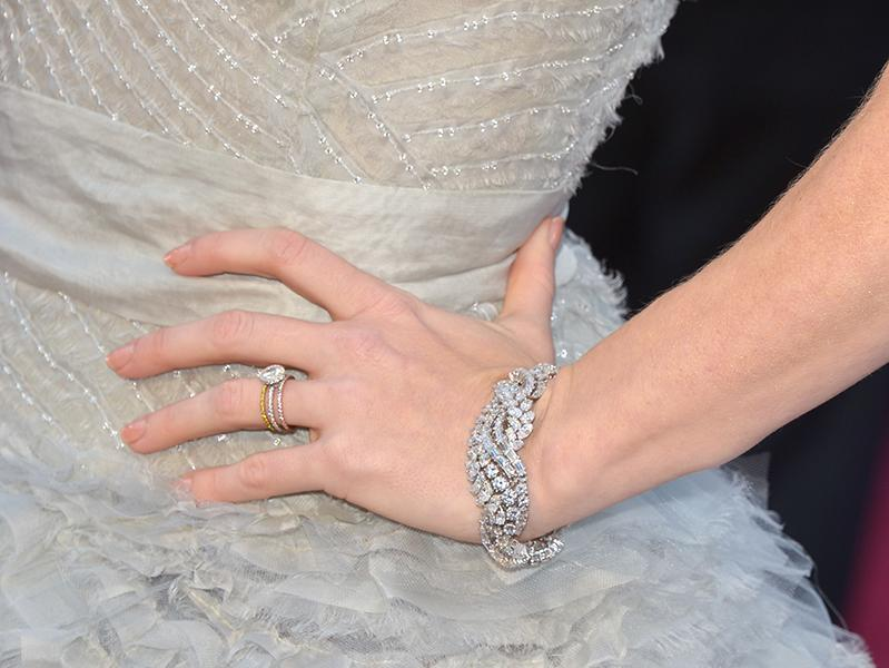 "Amy Adams - ""The Master"" star and supporting actress nominee almost stole the show in a larger-than-life Oscar de la Renta dress, but even with all that fabric, we spied this shiny stunner on her wrist. <br /><br />"