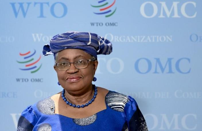 FILE PHOTO: WTO Director-General Ngozi poses before an interview with Reuters at the WTO headquarters in Geneva