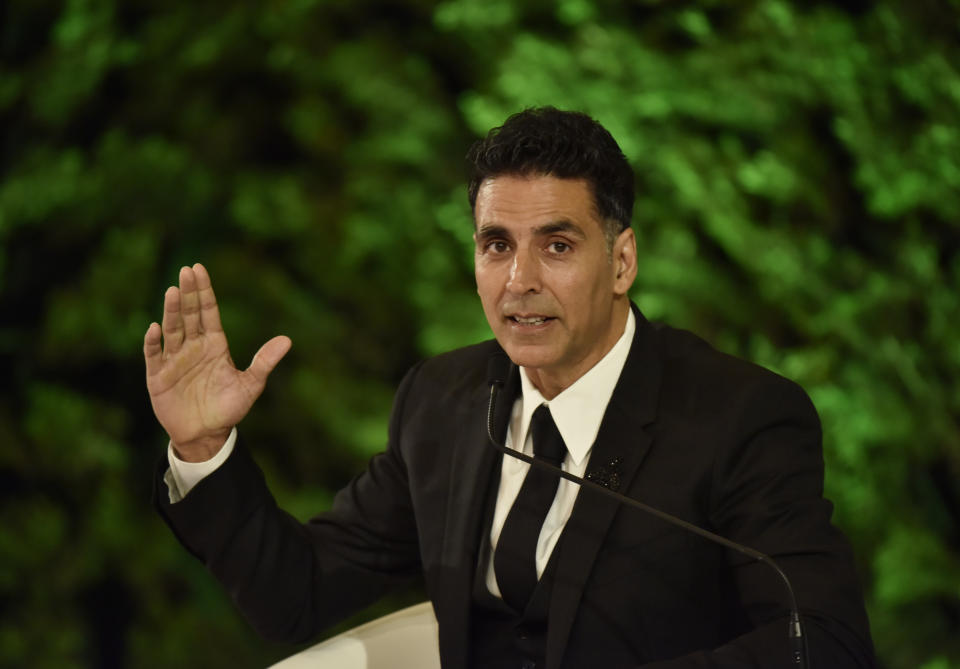 NEW DELHI, INDIA - DECEMBER 6: (Editors Note: This is an exclusive image of Hindustan Times) Actor Akshay Kumar seen during the Hindustan Times Leadership Summit at Taj Palace on December 6, 2019 in New Delhi, India. (Photo by Sanjeev Verma/Hindustan Times via Getty Images)