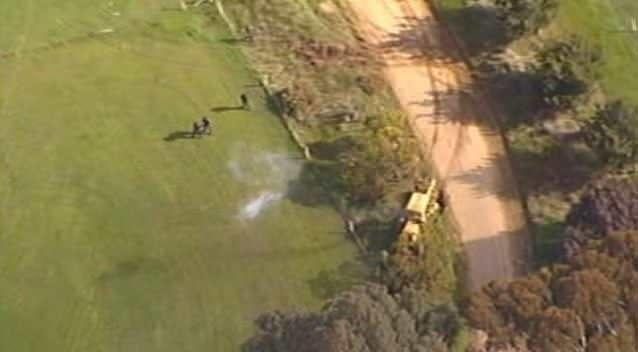 Clavell was shot twice by police at the end of this chase in 2004. Photo: 7News.