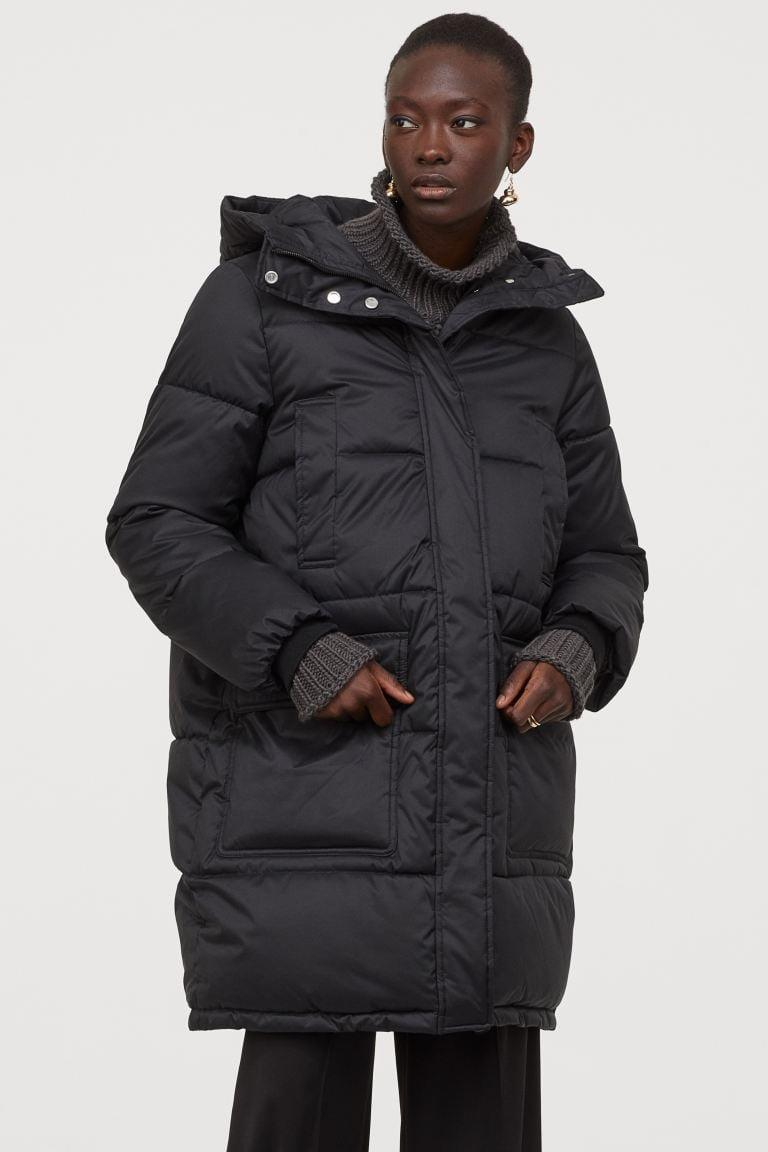 <p>You'll be toasty in this <span>H&M Padded Hooded Jacket</span> ($70).</p>
