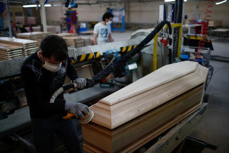 Business booms for France's biggest coffin-maker as coronavirus rips through the country